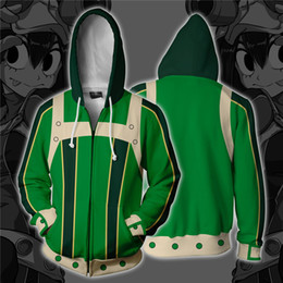 cosplay heroes 2019 - My Hero Academia Asui Tsuyu Cosplay Costumes Zipper Hoodies Sweatshirts 3D Printing Unisex Adult man women Clothing chea