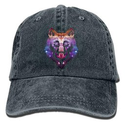 238efbdb0e5 Universe Galaxy Wolf Cool Space Wolf Classic Unisex Baseball Cap Hat  Adjustable Washed Dyed Cotton Ball Hat Multi-color optional