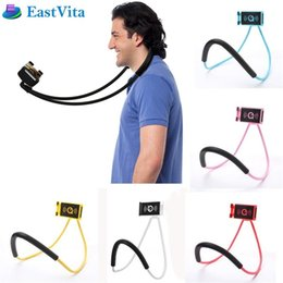 Discount lazy arm phone holder - EastVita 360 Degree Rotation Flexible Phone Holder Necklace Long Arm Lazy Bracket Phone Stand For iPhone Samsung Stand B