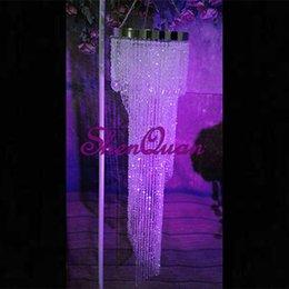 lustre en cristal suspendu de luxe de lustre 10mm pour le décor de mariages