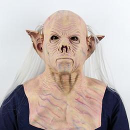 Ingrosso Maschere per Halloween Horror Maschera per adulti Faccia buffa Maschera di lattice Festa di Halloween Costume Cosplay Masquerade Maschere realistiche anonime