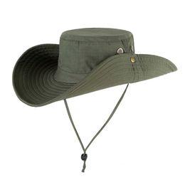 5d10ecec29d UPF50+ Sun Hat Women Summer Fishing Hiking Cap Outdoor Men Mesh Bucket Hat  Wide Brim UV Protection Flap Breathable Beach Cap