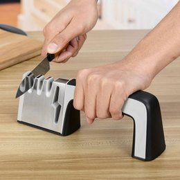 scissor designs NZ - New Design Multifunction 4 in 1 Knife and Scissors Sharpener Knife Stone Kitchen Tools T0.4