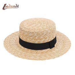 9c8887d5cb8 Women Wide Brim Straw Hat Fashion Chapeau Paille Summer Lady Sun Hats  Boater Wheat Panama Beach Hats Chapeu Feminino Caps