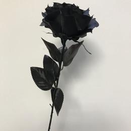 Shop silk flowers stems wholesale uk silk flowers stems wholesale black rose black silk rose long stem artificial flower black magic barkarole mightylinksfo
