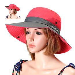 4908257252b Summer Foldable Bucket Hats Women Anti-UV Fisherman Hat Outdoor Breathable  Mesh Camping Hiking Fishing Cap Wide Brim Sun Caps