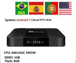 Iptv Tv NZ - TX3 mini android 7.1 with Brazil iptv box Live TV Latin America Channels Spanish Globo Iptv VOD h.265 4k*2k Video