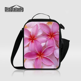 ic packs Canada - Bolsa Termica Thermal Insulated Food Lunch Bags For Teenage Girls Boys Flower Printing Cooler Bag For Children School Messenger Bags Ic Pack