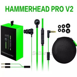 V2 cell phones online shopping - Hammerhead Pro V2 game Headphone in ear earphone With Microphone With Retail Box In Ear Gaming headsets Noise Isolation Stereo Bass mm