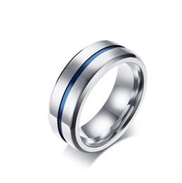 rainbow titanium jewelry 2018 - 8MM Black Titanium Ring For Men Women Wedding Bands Trendy Rainbow Groove Rings Jewelry USA Size 7-12 discount rainbow t