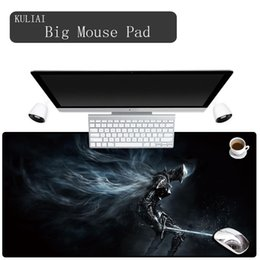 Discount anime laptop - KULIAI Dark Soul Anime Game Mouse Pad Rubber Large Size Non-slip Player Gaming Keyboard Desk Laptop Mouse Pads for Lol D