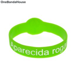 glow party decorations UK - 50PCS Watch Shape Decoration Logo N. Sra. aparecida rogai por nos Silicone Ruber Bracelet Adult Size