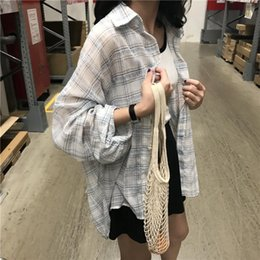 leisure shirt free shipping NZ - Free Shipping New Female Thin Section Long Sleeve Shirt Sleeve Long Coat Leisure Women's Blouses & Shirts