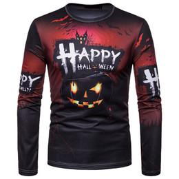 51f5e12c87ea8 Halloween Copsplay Tshirt Men 2018 Funny 3D Halloween Pumpkin Ghost Print T  Shirt Homme Harajuku Streetwear Tops Tees Shirts Camisetas