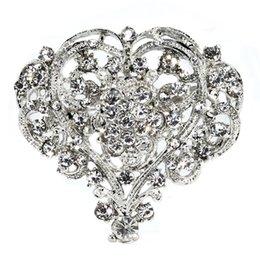 Huge rHinestone broocHes online shopping - Hot Cute Heart Shape Lady Girl Rhinestone Brooch Huge Size Wedding Party Brooch Pin Women Jewelry Christmas Gift Beauty