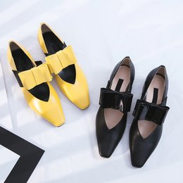 $enCountryForm.capitalKeyWord Canada - 2017 Spring Fall elegant ladies Low heels Dress Shoes Square Toes Shallow Bowtie women's shoes Party Wedding Comfortable Breathable Shoes