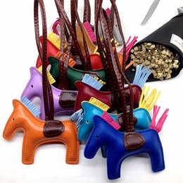 luxury toys for kids 2019 - Unicorn luxury design keychain animal women bag charm leather cute fashion key chains for 17 different colors discount l