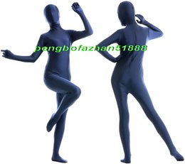 Xl Full Body Suits Australia - Unisex Full Body Suit Costumes Outfit New Dark Blue Lycra Spandex Suit Catsuit Costumes Unisex Sexy Full Bodysuit Costumes Outfit P406