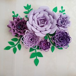 Discount flower wall backdrop rose flower wall backdrop 2018 on flower wall backdrop 2018 craft supplies artificial flowers paper flower full kits with tutorials for mightylinksfo