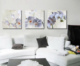 $enCountryForm.capitalKeyWord NZ - Framed Unframed Large wall art 3 pieces set modern picture white magnolia abstract oil painting canvas pictures for living room Home Decor