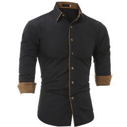 Mens Shirts Lapels Canada - Fashion Men Clothes Slim Fit Mens Long Sleeve Shirt Men Classic Personality Casual Lapel Men 'S Shirts Youth Epidemic