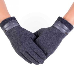 touch screen wrist Australia - 2018 Winter Men Wear-resistant Gloves Touch Screen Outdoor Sports Running Keep Warm Anti-skid Gloves S1025