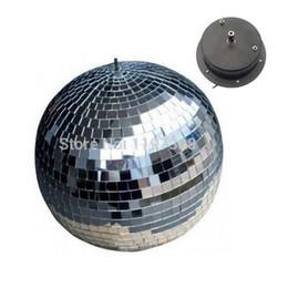 "Rotating Disco Ball Light Australia - D20cm glass rotating mirror ball 8"" disco DJ party stage lighting reflection motor balls KTV Bars shop holiday decor"