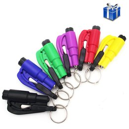 Wholesale Mini Safety Hammer Car Life saving Escape Tools in Safety Hammer Window Keychain Car Window Broken Emergency Glass Breaker