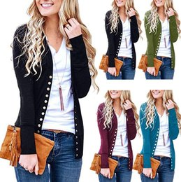c46e2c8df CroChet ladies sweaters online shopping - Women Button Sweater Cardigan  Autumn Long Sleeve V Neck Solid