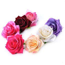 $enCountryForm.capitalKeyWord Australia - 7CM single cashmere Rose Brooch and making simulation flower hairpin dual-purpose small jewelry
