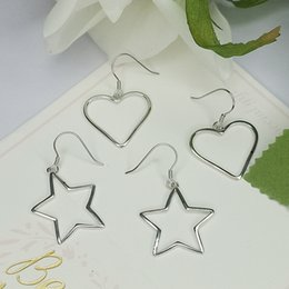 star shaped gifts NZ - Wild Five-Pointed Star Earrings Temperament Female Heart Shaped Stud Earrings Sterling Silver 925 Valentine's Day Gift