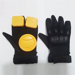 Professional Finger Skateboard UK - Professional Skateboard Gloves Outdoor Sports Non Slip Creative Black Anti Wear Fashion Longboard Slide Glove Accessories Scooter 36lf jj