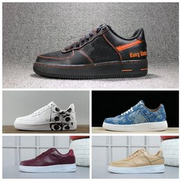 Cotton Cover ups online shopping - 2018 men women Athletic Field af1 Vlone X Ultra Classics Air Low Skate Shoes Adult Brand Casual Sneakers Black Orange