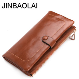 painting faces UK - JINBAOLAI Painted face ladies wallet leather high quality long clutch bag leather wallet high quality fashion women's