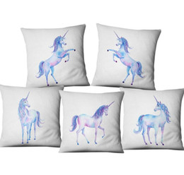 Chinese  New Coloful Different Unicorn Gesture Pattern Pillow Case Home Bed Cute Cushion Cover Decor Gift Free Shipping manufacturers