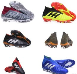 ef36195b Оригинал 2019 V SX Neymar футбольная обувь Predator 18 + x Погба FG  акселератор DB дети