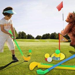 OUTAD 1 Juego de juguetes de golf de plástico multicolor para niños Juego de deportes de patio trasero al aire libre