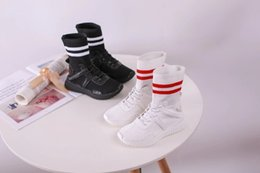 2018 Kids Zapatillas Ankle Boots Speed Stretch Mesh High Top Trainer  Running Shoes Speed Knit Sock chaussures Casual designer Sneakers bb9a5ab655cb