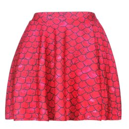 new style skirt ladies 2019 - Red Fish Scale Women Sexy Pleated Skirts Tennis Bowling Bust Shorts Skirt New Slim Lady Female Fitness Sports Apparel A