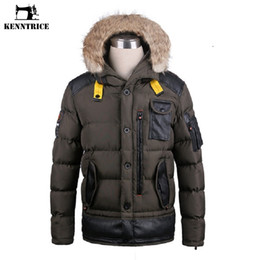 26534d1bfddd Kenntrice Anorak Jacket Winter Coat Male Mens Long Leather Trench Coat  Windbreaker Parkas Patchwork Faux Fur Leather DSW020-1
