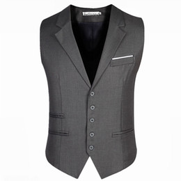 Men's Trendy Business Dress Vest Suit Slim Fit Tuxedo Waistcoat Male Vest Jackets Plus Size 5XL 6XL