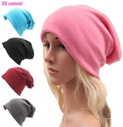 wholesale plain cloche hats Canada - Knitted Cotton Hats Autumn and Winter Headgear Sports Street Style Hip Hop Casual Men and Women Fashion Accessores