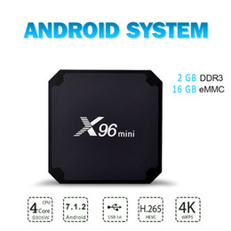media player Australia - X96 Mini Android 7.1.2 Tv Box Quad Core 2GB 16GB Amlogic S905W Smart Steaming Media Player TV Box Android