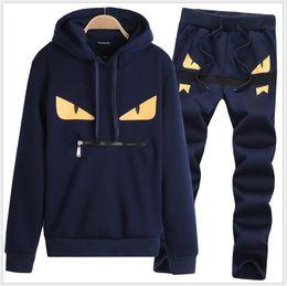 Body Fitness Suit Australia - Gym Clothing Men Running Sport Suit Male Fitness Body building Sportwear Mens Hoodies+Pants Track Suit Mens Sports Suits