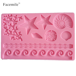 $enCountryForm.capitalKeyWord NZ - 3D DIY Coral Starfish Shell Lace Fondant Gum Paste Silicone Mold Bakeware Pastry Decorating Gift Mould Tools