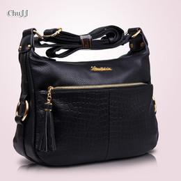$enCountryForm.capitalKeyWord NZ - Women's Genuine Leather Handbags All-match Shoulder CrossBody Bags Fashion Tassel Messenger Bag Solid Color Hobos Women Bags