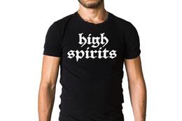 $enCountryForm.capitalKeyWord NZ - High Spirits Band Logo Black T-Shirt T-Shirt 100% Cotton Oversize Fashion T Shirt for Summer Cool Men TShirt
