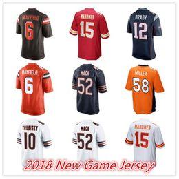Discount games xxl - 52 Khalil Mack 58 Von Miller 12 Tom Brady 15 Patrick Mahomes 10 Mitchell Trubisky 6 Baker Mayfield Men Stitched Game Jer