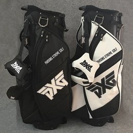 hand bags sets NZ - hot sale Golf Bag Golf Clubs Bag 4 Holes travel complete set white or black color Stand Rack irons putter driver fairway