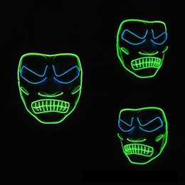 carnival decorations for party NZ - Hanzi_masks EL Wire Mask Light Up Neon Skull LED Dog Mask and Sound Activated EL Driver For Halloween Scary Party Decoration